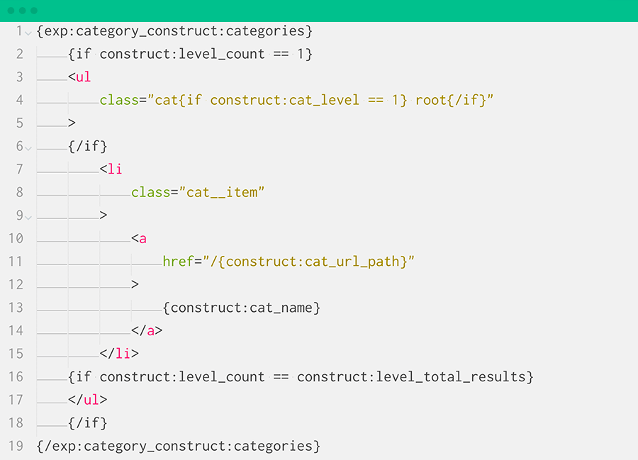 Category Construct Screenshot
